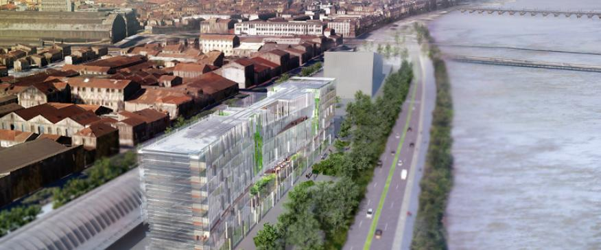 South-east view of Green Office® Bordeaux. Architect: AS.  Architecture-Studio