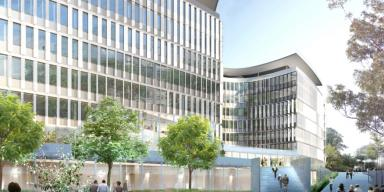 Green Office® Rueil, view from Place Robert Schuman. Architect: Jean-Michel Wilmotte